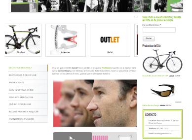 Diseño Web tienda online de bicicletas