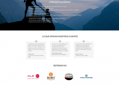 Diseño web empresa de informática