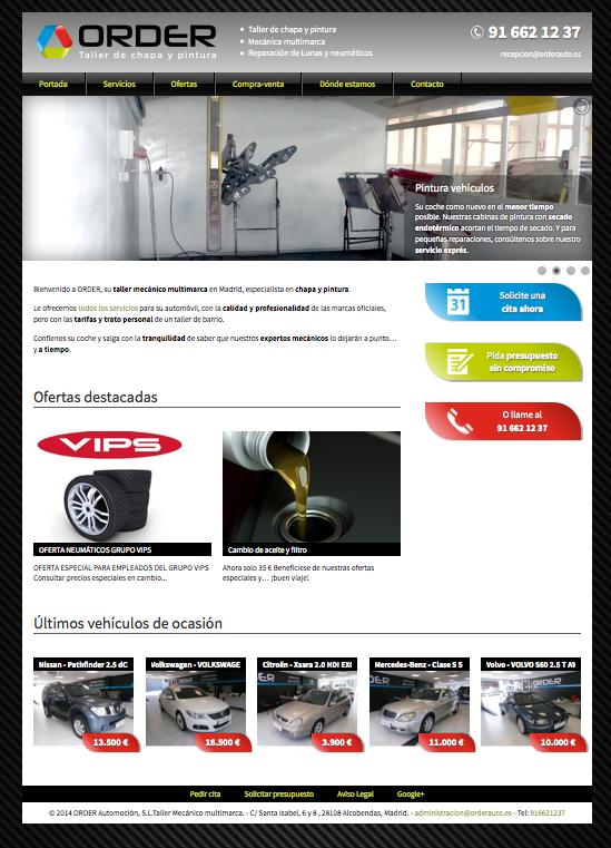 Web de Orderauto