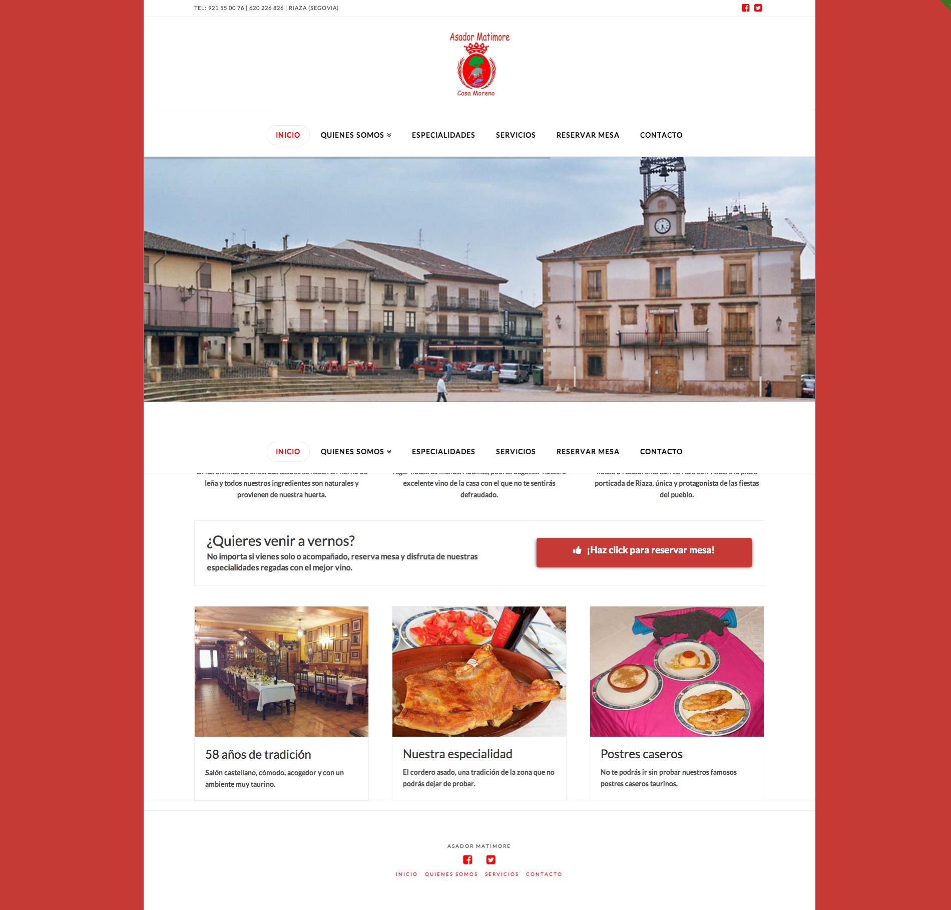 Web restaurantesenriaza.com