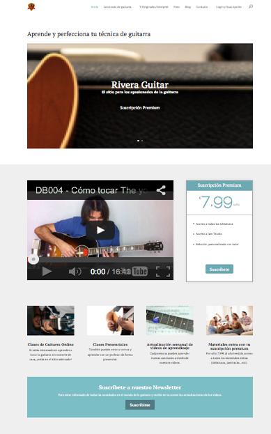 Sitio web de profesor de guitarra