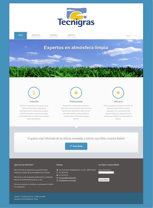 Sitio web de Tecnigras SA